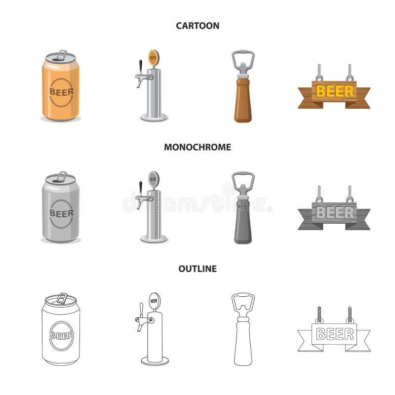 Oggetto isolato del simbolo della barra e del pub Insieme del pub e del simbolo di riserva interno per il web illustrazione vettoriale