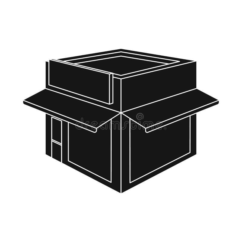 Oggetto isolato del simbolo della libreria e del negozio Metta del negozio e del simbolo di riserva moderno per il web illustrazione di stock