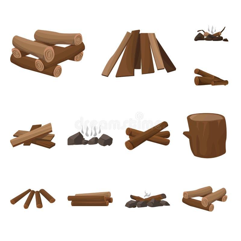 Oggetto isolato del simbolo della natura e del legname Metta dell'icona di vettore della costruzione e del legname per le azione illustrazione di stock