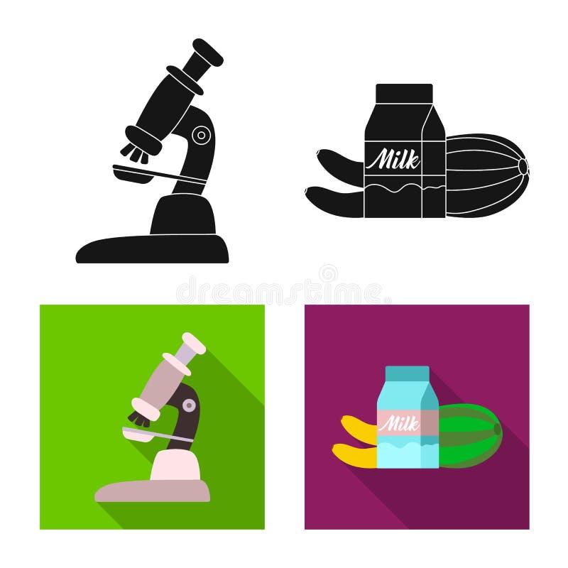 Oggetto isolato del simbolo della pianta e genetico Insieme dell'icona di biotecnologia e genetica di vettore per le azione illustrazione vettoriale
