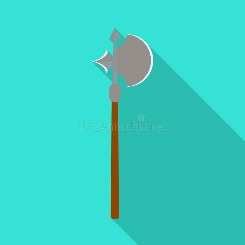 Oggetto isolato del simbolo della spada e dell'ascia Metta del simbolo di riserva del macis e dell'ascia per il web royalty illustrazione gratis