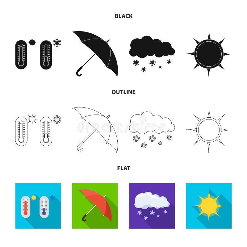Oggetto isolato del simbolo di clima e del tempo Raccolta dell'illustrazione di riserva di vettore della nuvola e del tempo royalty illustrazione gratis