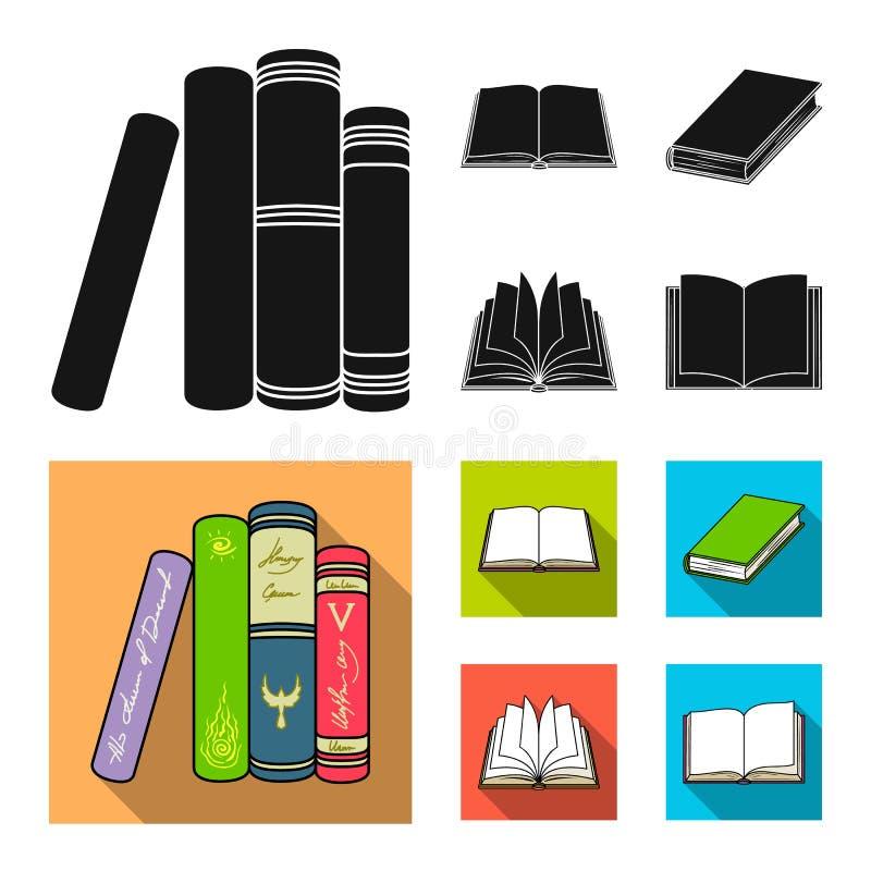 Oggetto isolato del simbolo del manuale e delle biblioteche Raccolta dell'icona di vettore della scuola e delle biblioteche per l illustrazione vettoriale