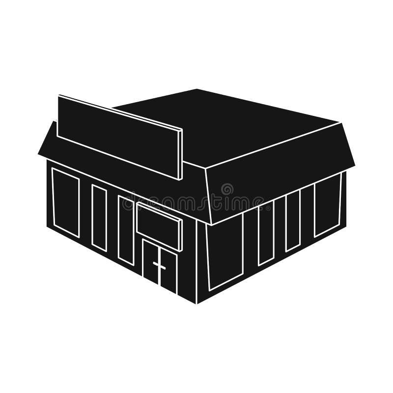 Oggetto isolato del simbolo del mercato e della libreria Metta della libreria e dell'illustrazione di riserva commerciale di vett illustrazione vettoriale