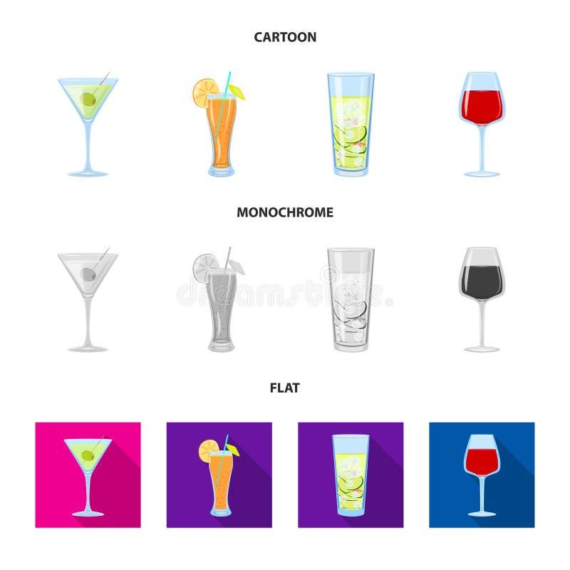 Oggetto isolato del simbolo del ristorante e del liquore Metta dell'icona di vettore dell'ingrediente e del liquore per le azione illustrazione di stock