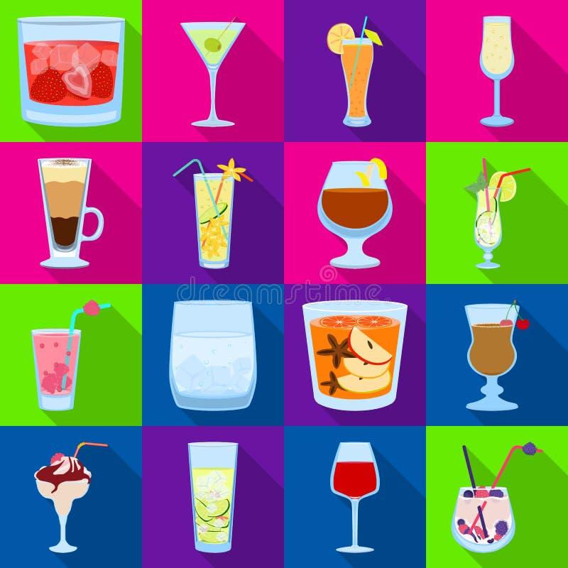 Oggetto isolato del simbolo del ristorante e del liquore Metta dell'illustrazione di vettore delle azione dell'ingrediente e del  royalty illustrazione gratis