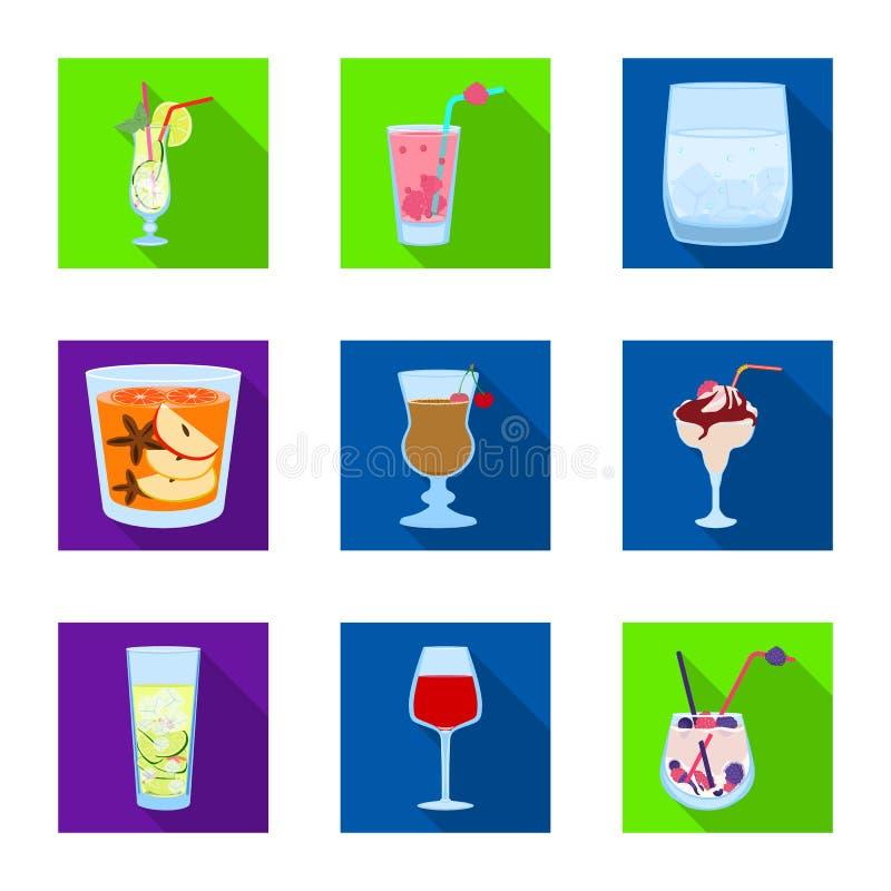 Oggetto isolato del simbolo del ristorante e del liquore Metta del simbolo di riserva dell'ingrediente e del liquore per il web illustrazione di stock