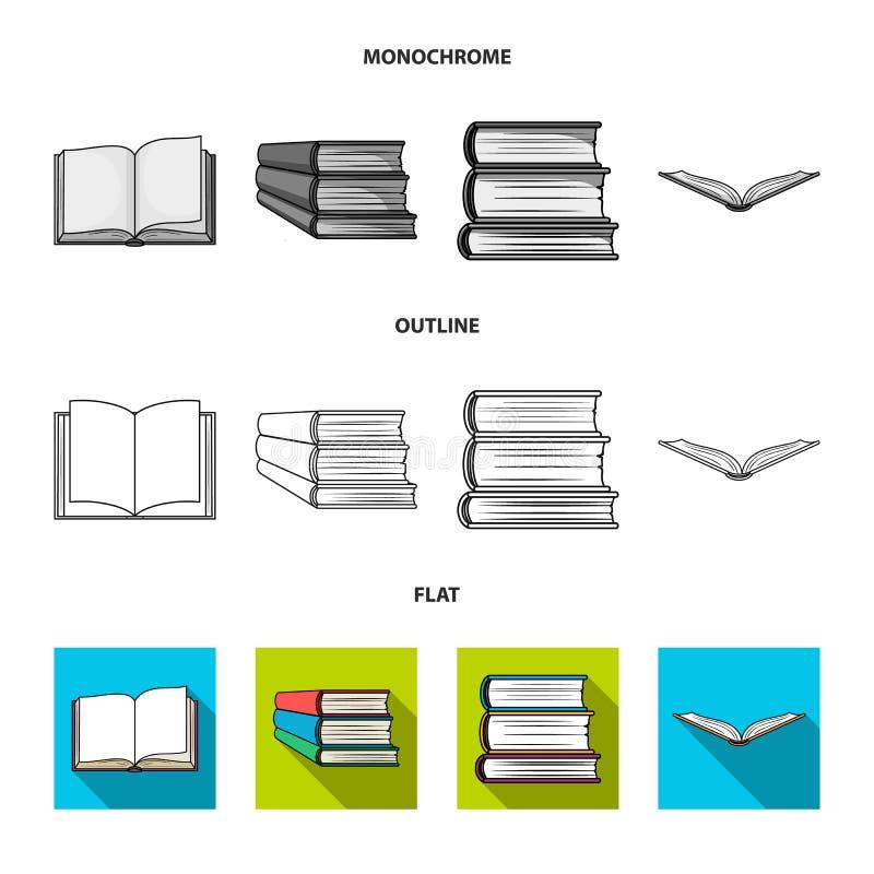 Oggetto isolato dell'icona del manuale e delle biblioteche Metta dell'illustrazione di riserva di vettore della scuola e delle bi royalty illustrazione gratis