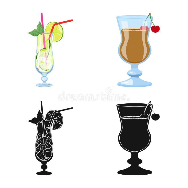 Oggetto isolato dell'icona del ristorante e del liquore Raccolta dell'icona di vettore dell'ingrediente e del liquore per le azio royalty illustrazione gratis