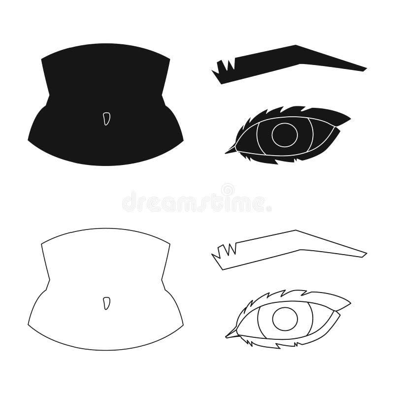 Oggetto isolato dell'icona della parte e del corpo Raccolta del simbolo di riserva di anatomia e del corpo per il web royalty illustrazione gratis