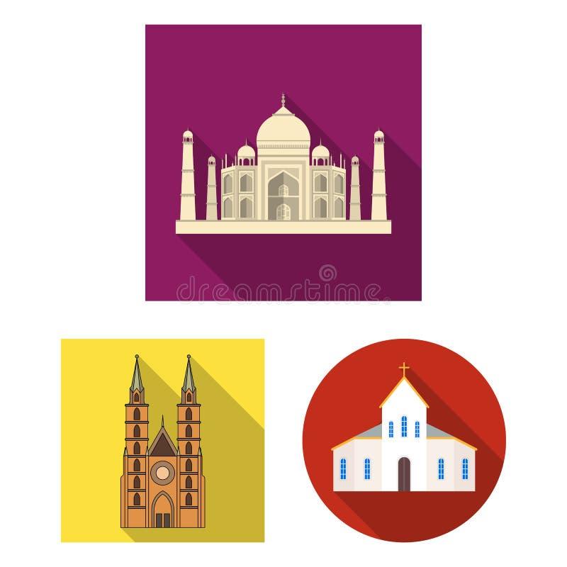 Oggetto isolato dell'icona di nozze e di religione Raccolta della religione ed icona di vettore della casa per le azione illustrazione di stock
