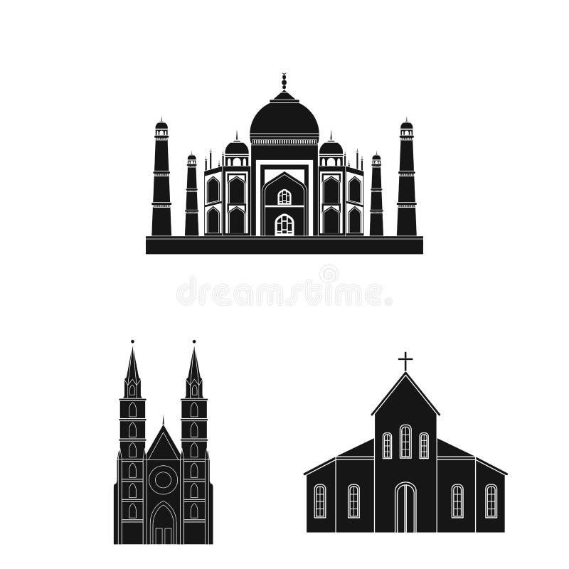 Oggetto isolato dell'icona di nozze e di religione Raccolta della religione e dell'illustrazione di vettore delle azione della ca royalty illustrazione gratis