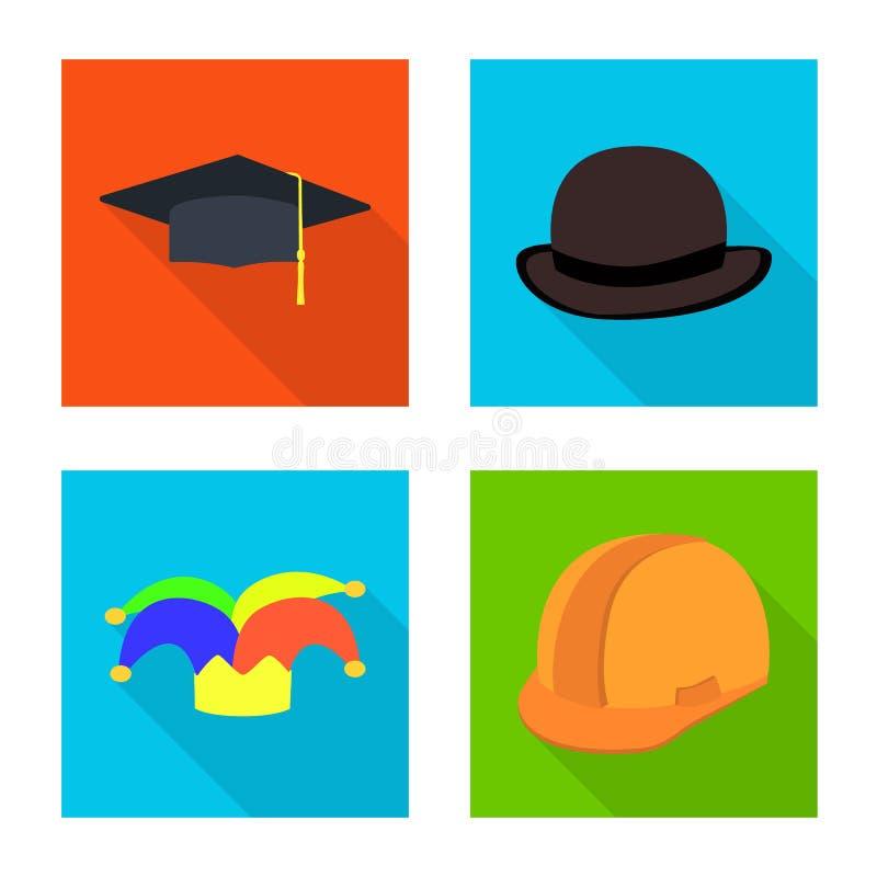 Oggetto isolato dell'icona di professione e di modo Metta di modo e del simbolo di riserva del cappuccio per il web royalty illustrazione gratis