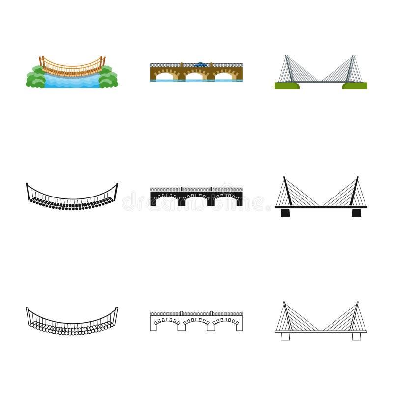 Oggetto isolato dell'icona di progettazione e del collegamento Metta del collegamento e del simbolo di riserva laterale per il we illustrazione vettoriale