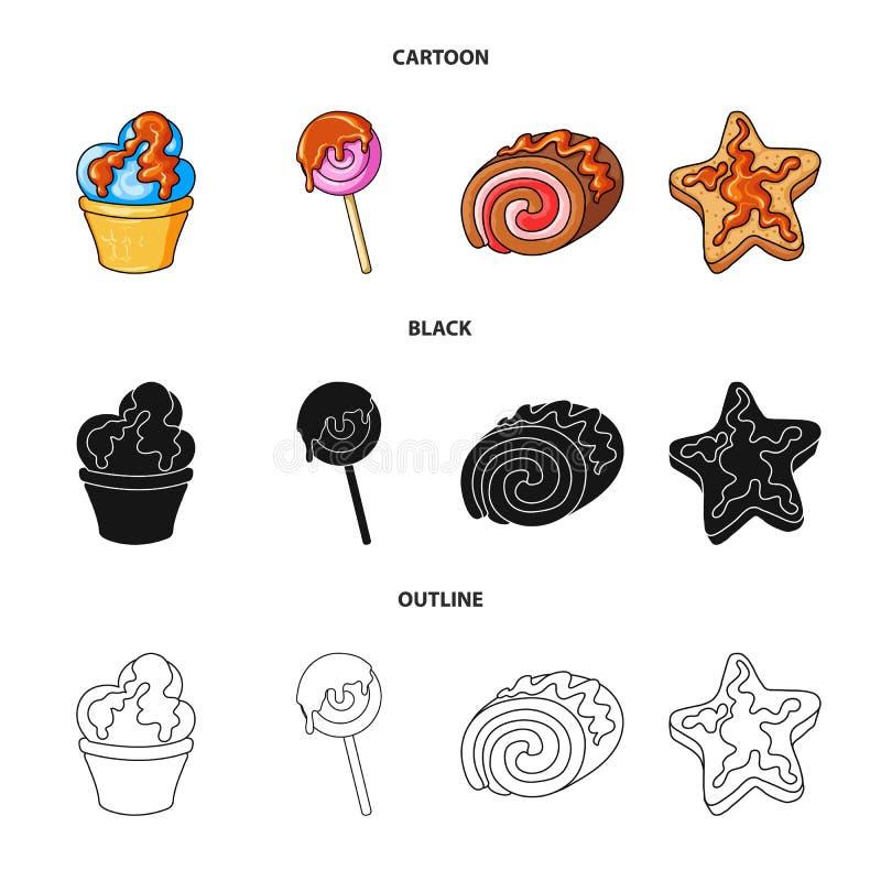 Oggetto isolato della confetteria e del simbolo culinario Metta dell'illustrazione di vettore delle azione del prodotto e della c illustrazione di stock