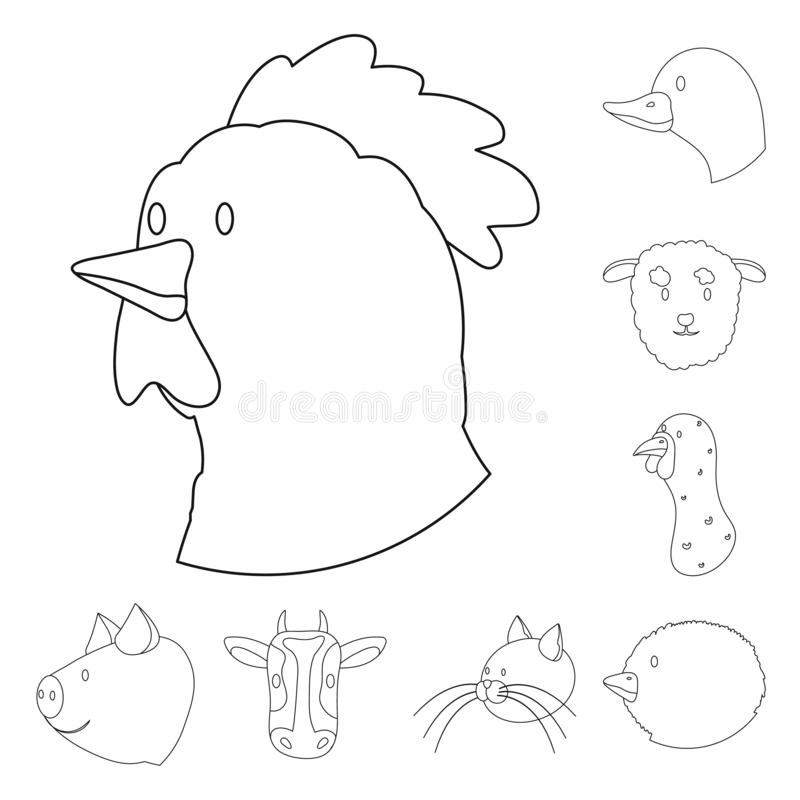Oggetto isolato di alimento e del segno casalingo Metta dell'illustrazione di vettore delle azione della fattoria e dell'alimento illustrazione vettoriale