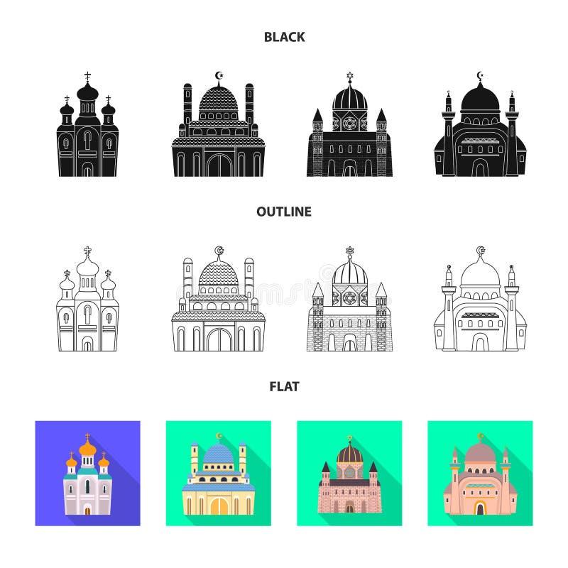 Oggetto isolato di culto e del segno del tempio o illustrazione di stock