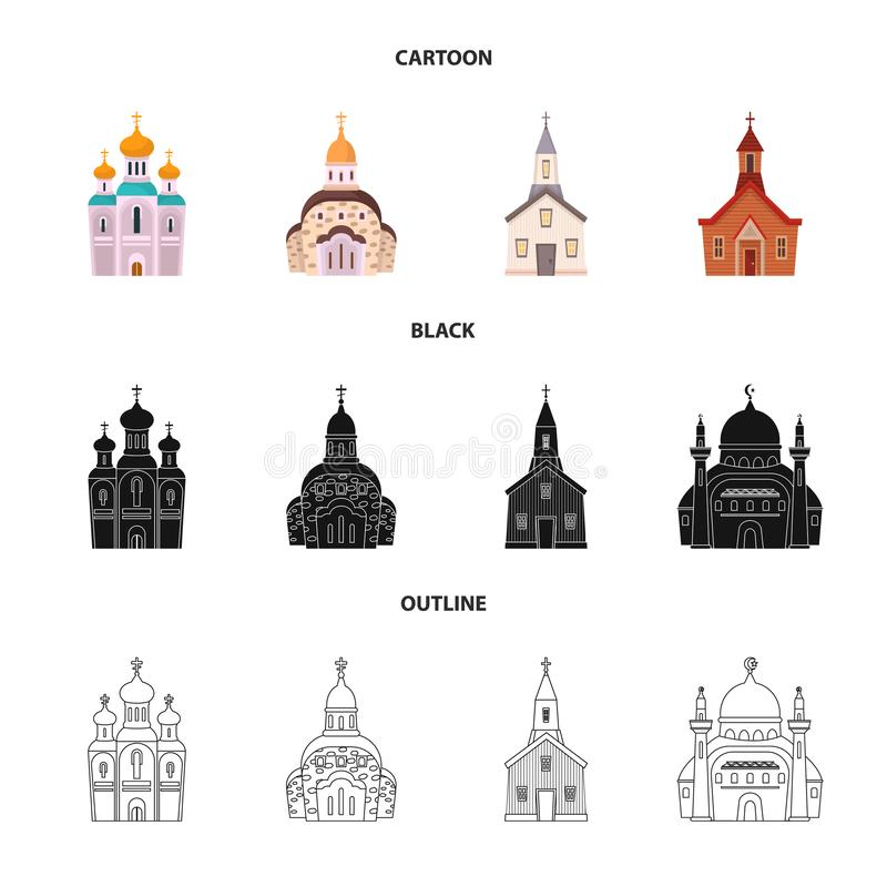 Oggetto isolato di culto e del simbolo del tempio o illustrazione vettoriale
