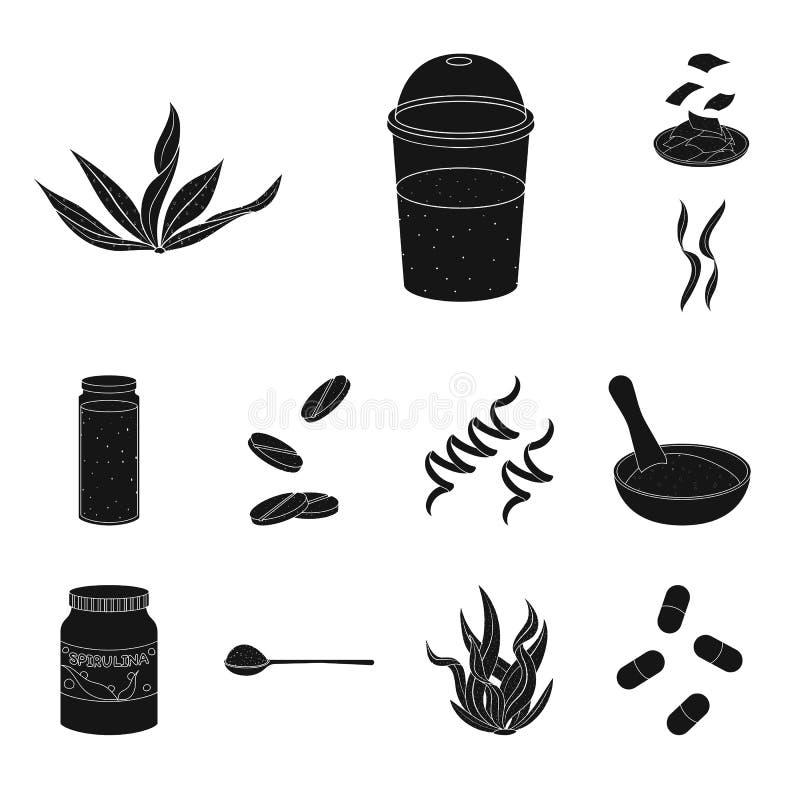Oggetto isolato di erba e dell'icona naturale Metta del simbolo di riserva dell'alga e dell'erba per il web illustrazione vettoriale