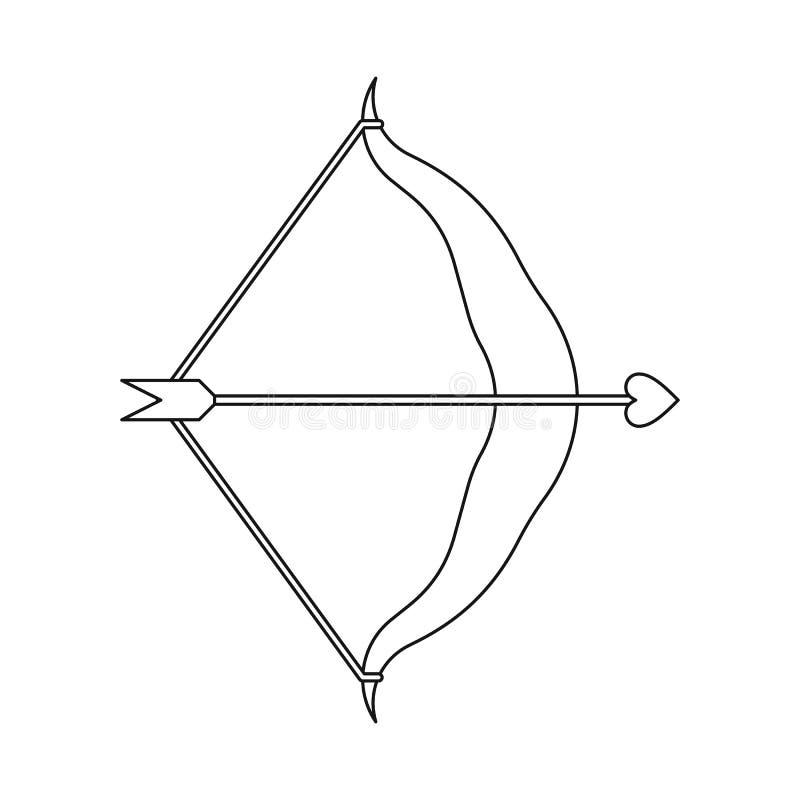 Oggetto isolato di freccia e logo amour. Set di frecce e icona del vettore di amore per le azioni royalty illustrazione gratis