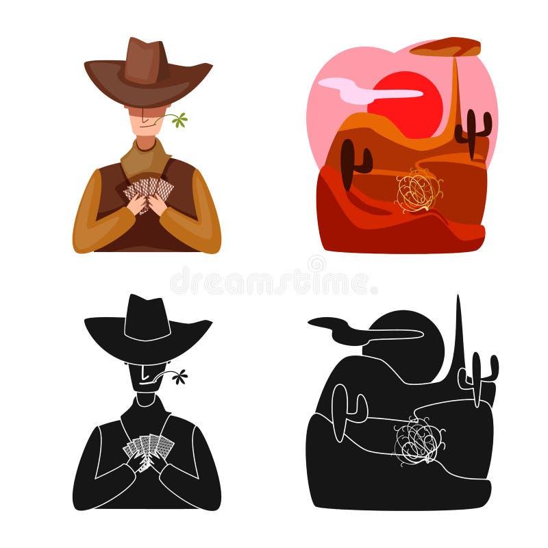Oggetto isolato di texas e segno di cronologia Set di texas e di simboli di materiale di coltura per il Web royalty illustrazione gratis