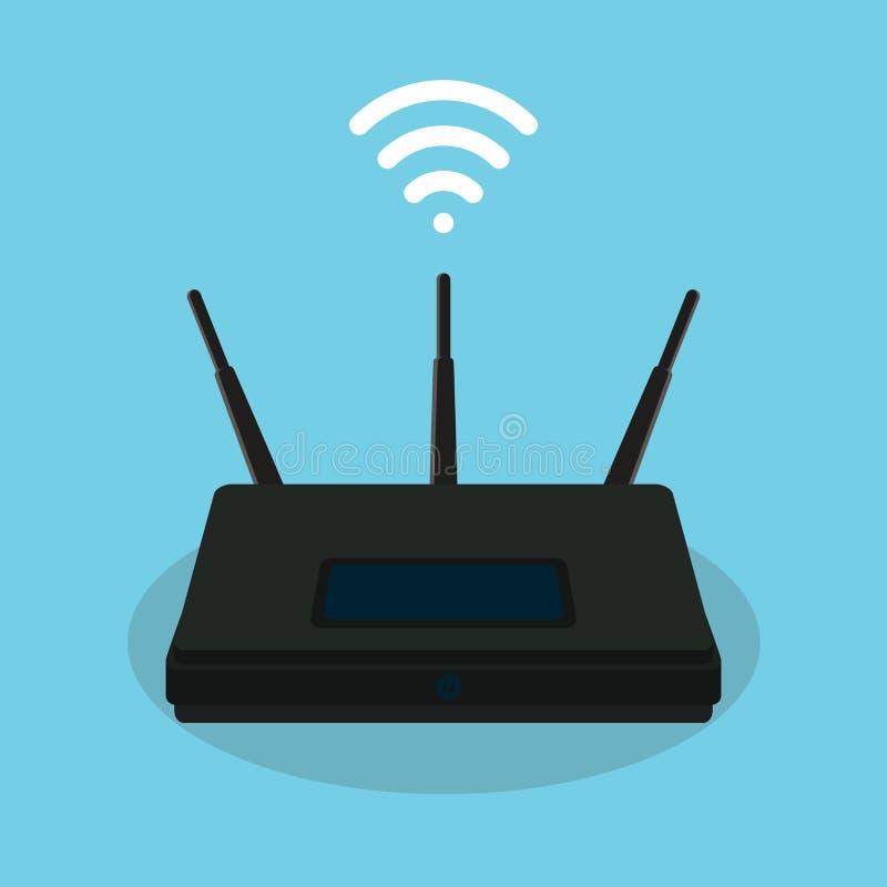 Oggetto isolato router di singla di Wifi illustrazione di stock