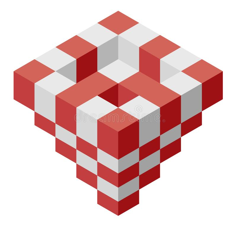Oggetto nella forma della piramide Forma astratta di vettore del cubo royalty illustrazione gratis