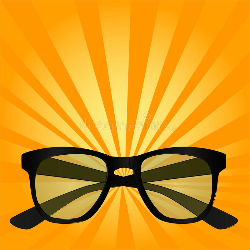 Oggetto per vista, occhiali da sole, vetri di Pop art illustrazione vettoriale