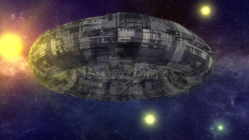 Oggetto volante non identificato futuristico royalty illustrazione gratis