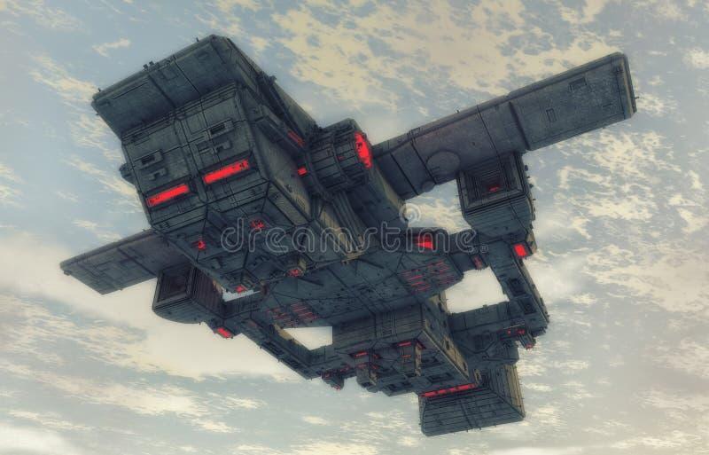 Oggetto volante non identificato futuristico illustrazione di stock