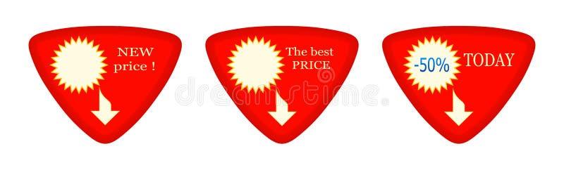 Oggi - sconto - nuovi - prezzo migliore - 45 fotografia stock libera da diritti