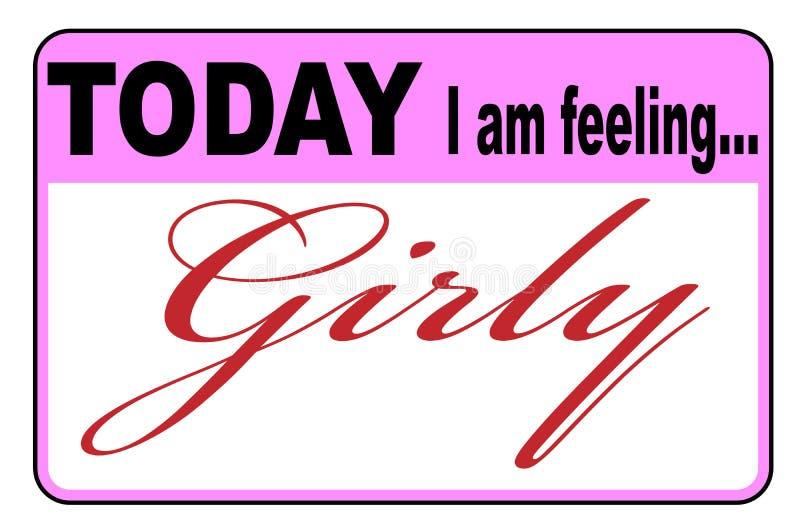 Oggi sto ritenendo Girly illustrazione vettoriale