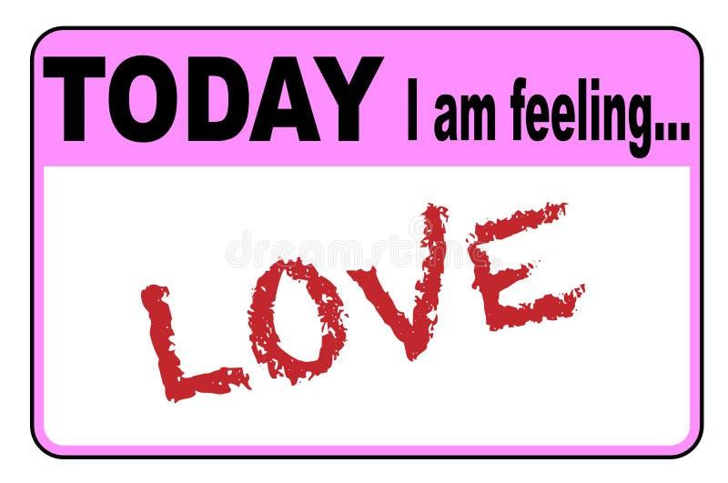 Oggi sto ritenendo l'amore royalty illustrazione gratis