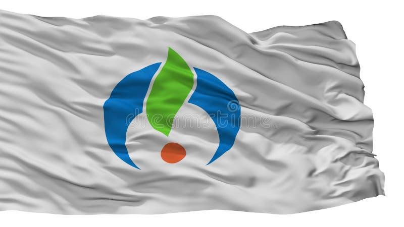 Ogi-Stadt-Flagge, Japan, Saga-Präfektur, lokalisiert auf weißem Hintergrund lizenzfreie abbildung