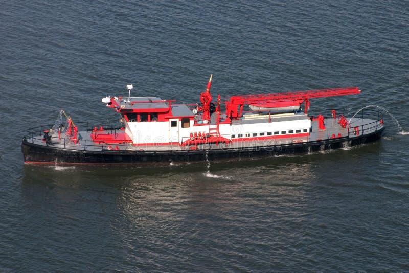 ogień łódź obrazy stock