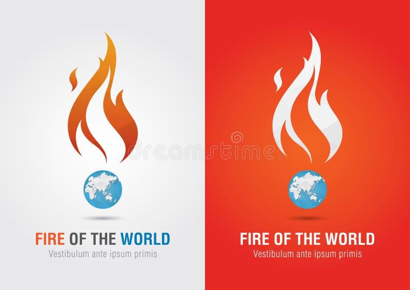 Ogień światowa szyldowa ikona symbolu informaci grafika Kreatywnie rynek ilustracji