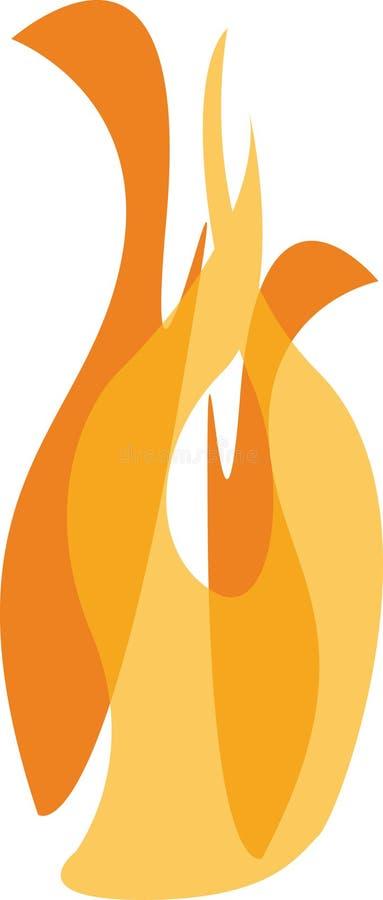 ogień royalty ilustracja