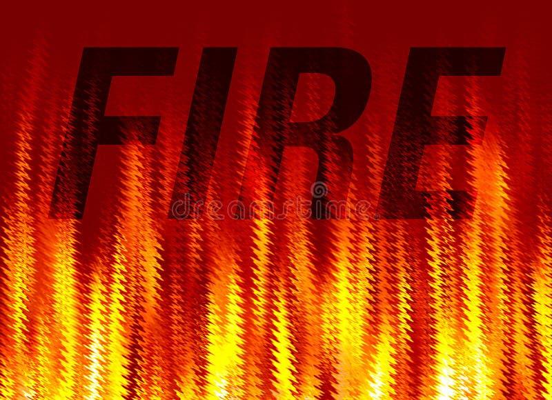 ogień abstrakcyjne tło ilustracja wektor