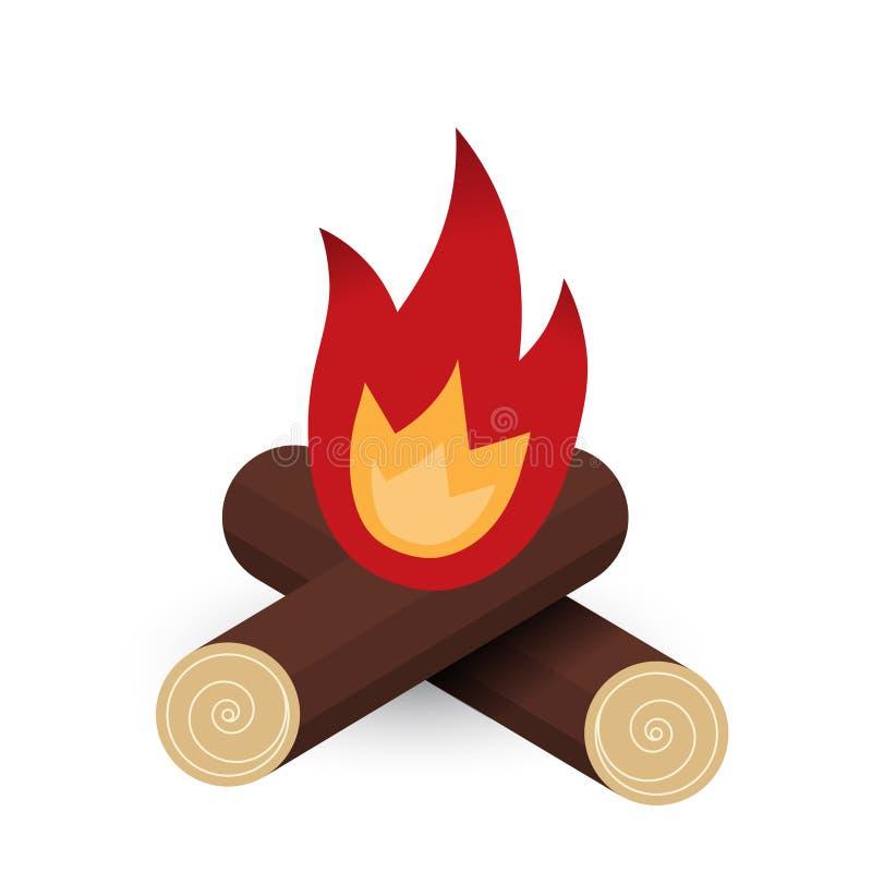 Ogień bele - wektorowa płaska ilustracja ilustracji