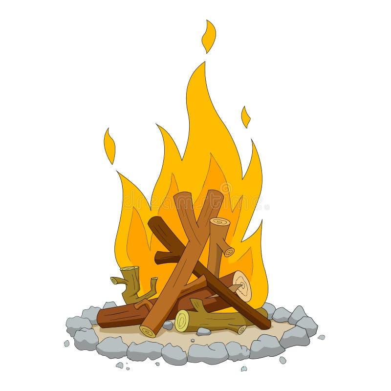 ogień campingowy royalty ilustracja