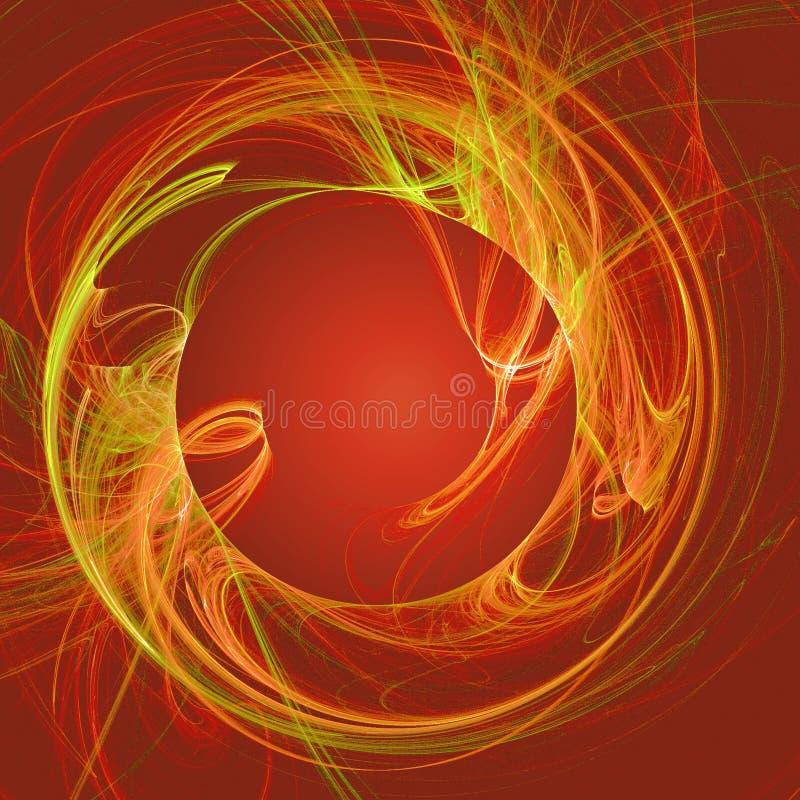 ogień chaosu belki ilustracja wektor