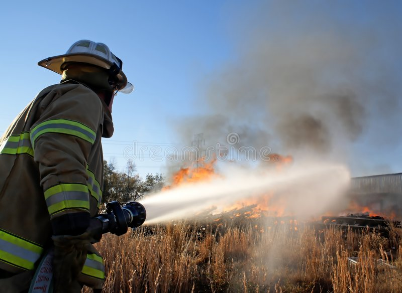 ogień do gospodarstwa obrazy stock