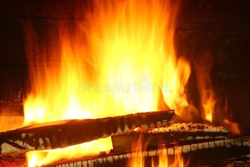 Ogień drewno zdjęcie royalty free