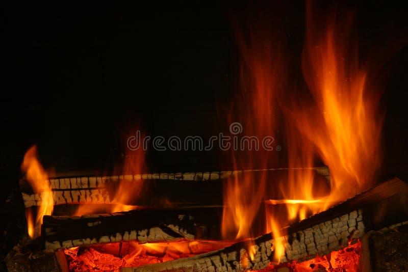 Ogień drewno obrazy stock