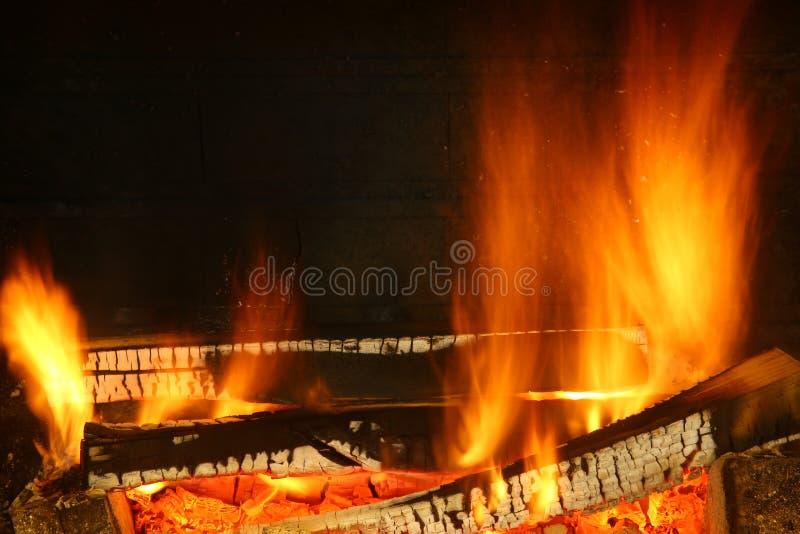 Ogień drewno obraz royalty free