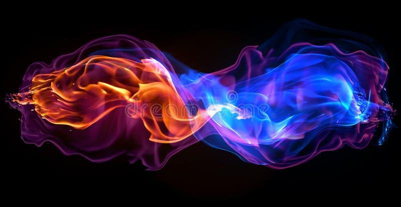 Ogień - fala gorący osocze ogień - czerwień ilustracja wektor