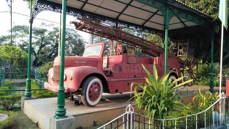 ogień firetruck silnika stare show zdjęcia stock
