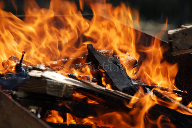 ogień grilla fotografia royalty free