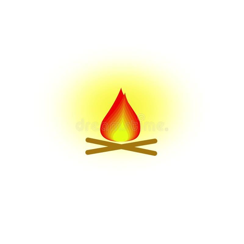 Ogień ikona royalty ilustracja