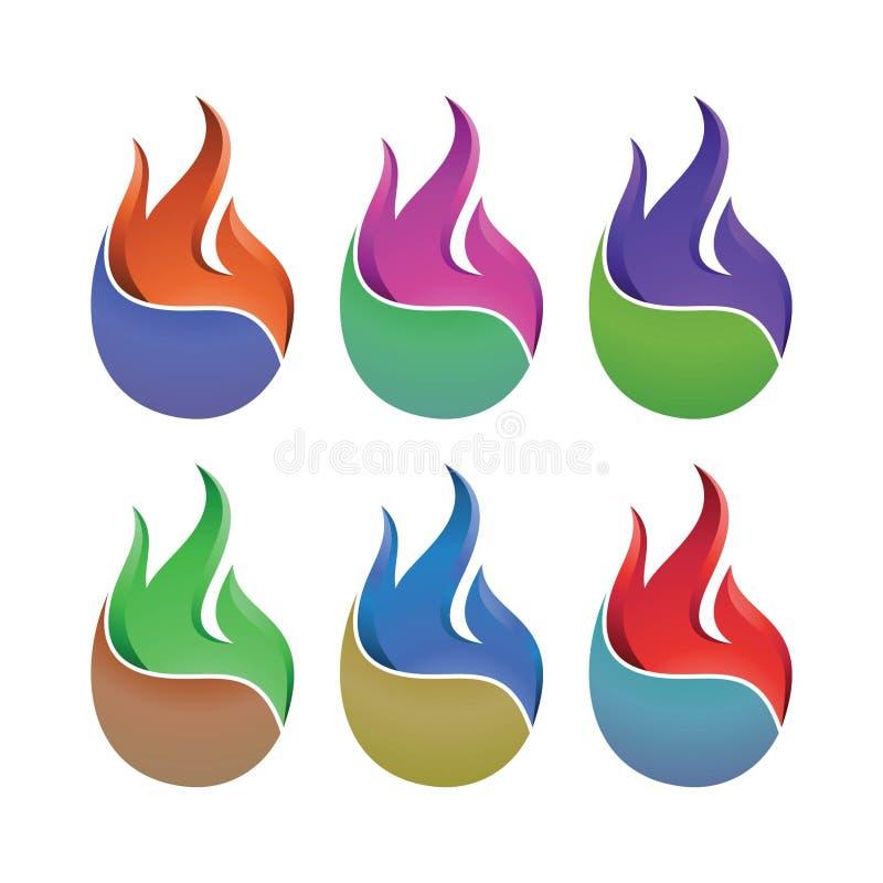 Ogień jest dalej zdjęcia royalty free